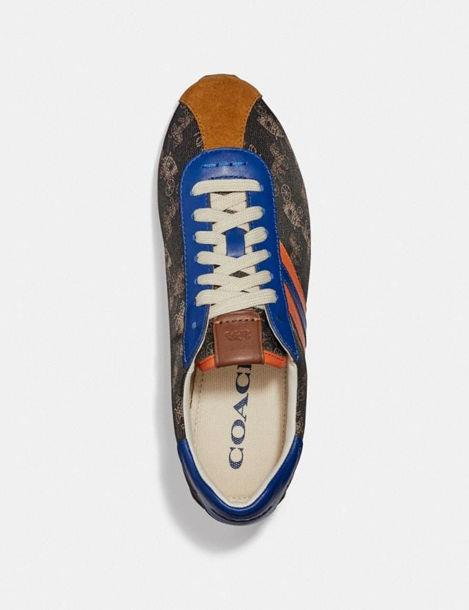 Coach C170 Retro Runner With Horse and Carriage Print Brown/Cadet New Women's New Arrivals Alternate View 2