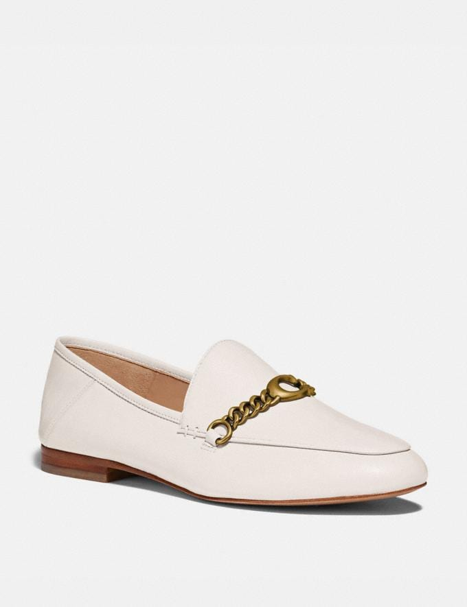 Coach Helena Loafer Chalk Women Shoes