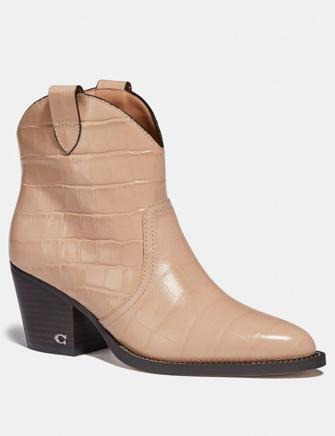 Coach Paige Western Bootie Beechwood New Women's New Arrivals