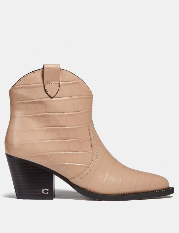 Coach Paige Western Bootie Beechwood New Women's New Arrivals Alternate View 1