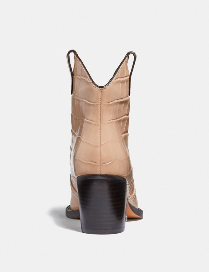 Coach Paige Western Bootie Beechwood New Women's New Arrivals Alternate View 3