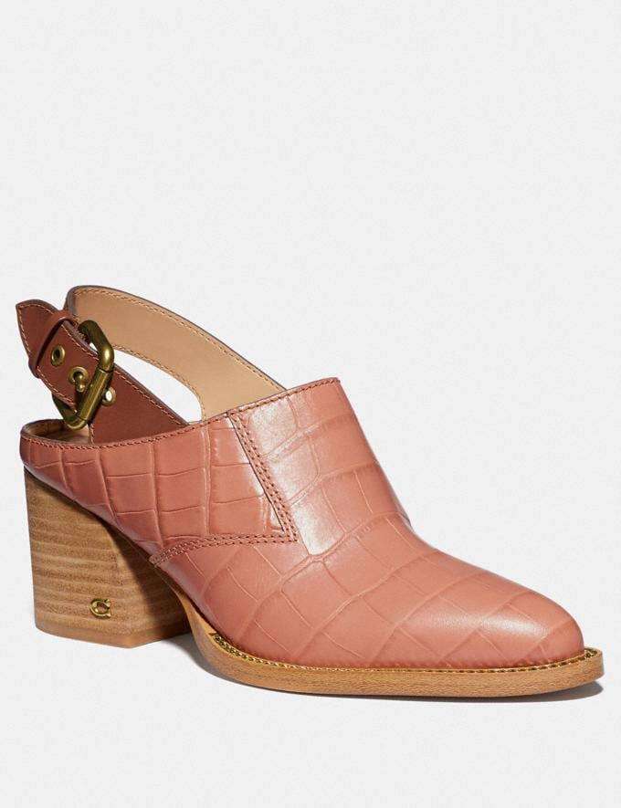 Coach Payson Slingback Bootie Light Peach/1941 Saddle New Women's New Arrivals Shoes