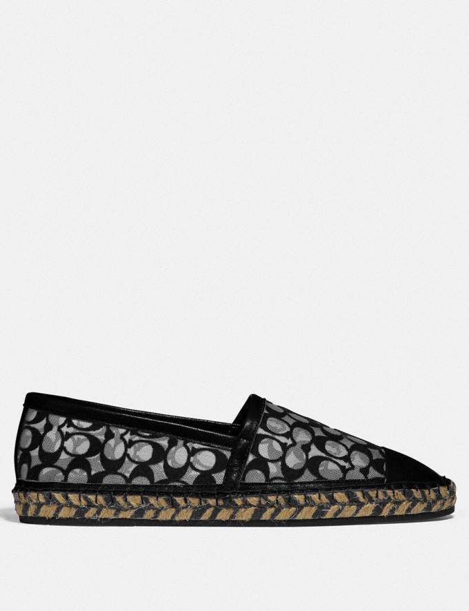 Coach Cleo Espadrille Black New Women's New Arrivals Alternate View 1