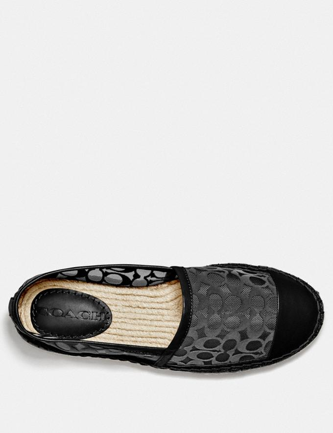 Coach Cleo Espadrille Black Women Shoes Flats Alternate View 2