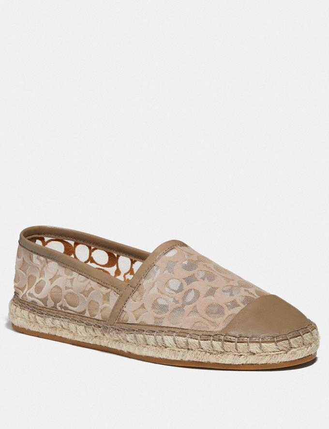 Coach Cleo Espadrille Mushroom New Women's New Arrivals Shoes