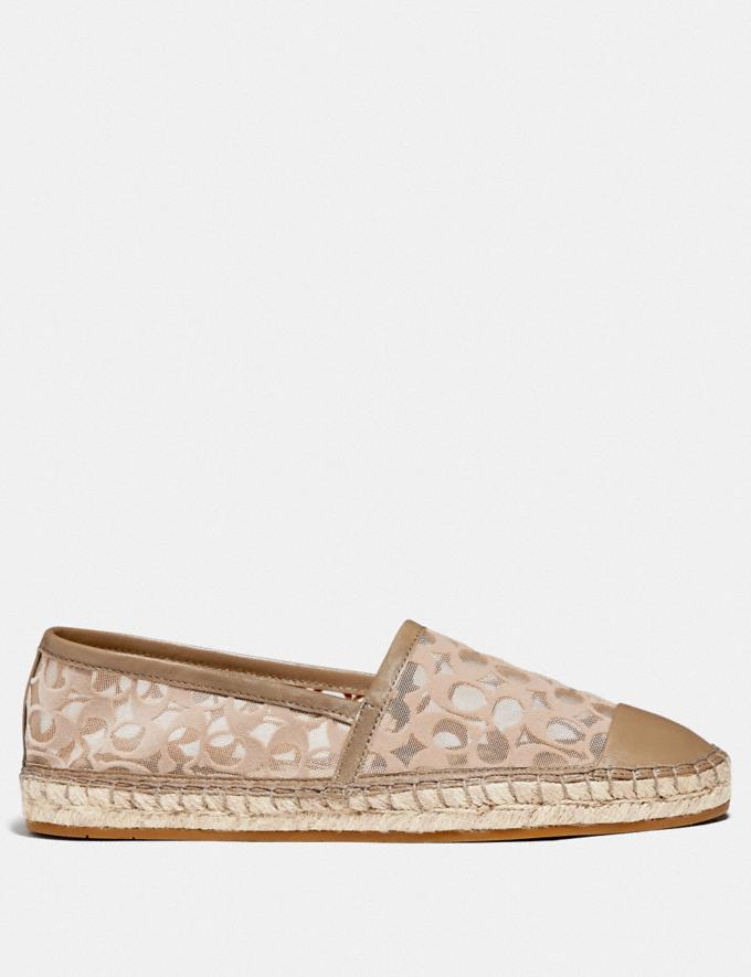 Coach Cleo Espadrille Mushroom Women Shoes Flats Alternate View 1