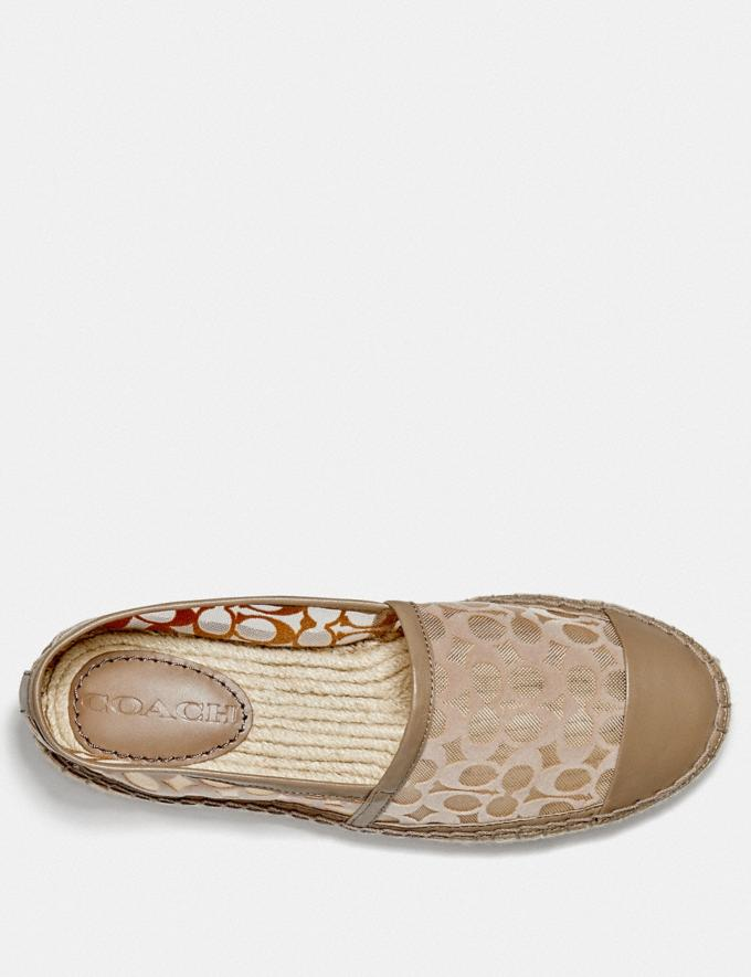 Coach Cleo Espadrille Mushroom Women Shoes Flats Alternate View 2