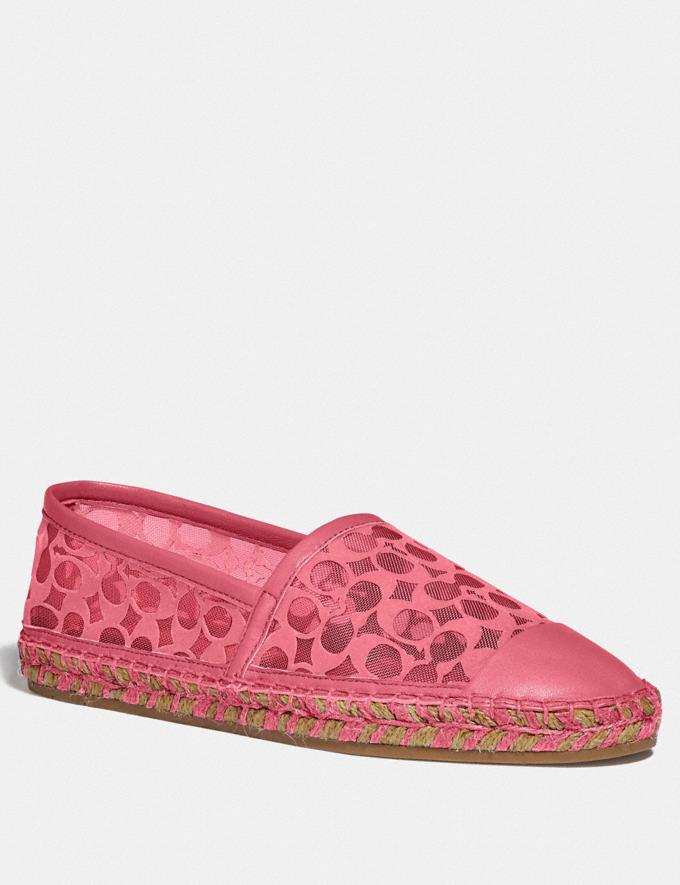 Coach Cleo Espadrille Orchid Women Shoes Flats