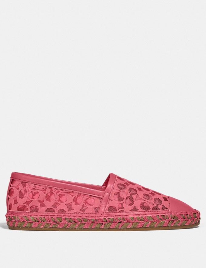 Coach Cleo Espadrille Orchidee Neu Kooperationen Typisch Coach Alternative Ansicht 1