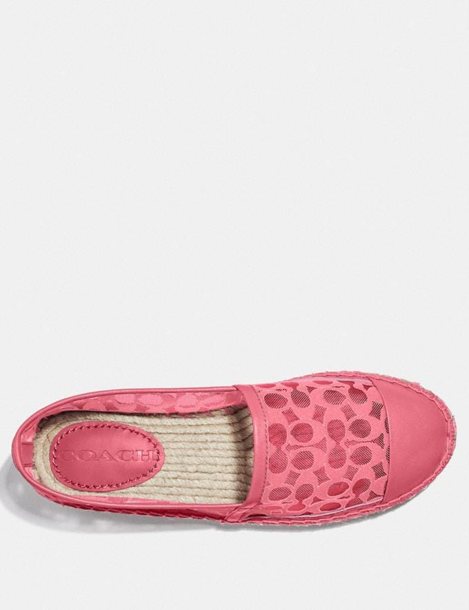 Coach Cleo Espadrille Orchid Women Shoes Flats Alternate View 2