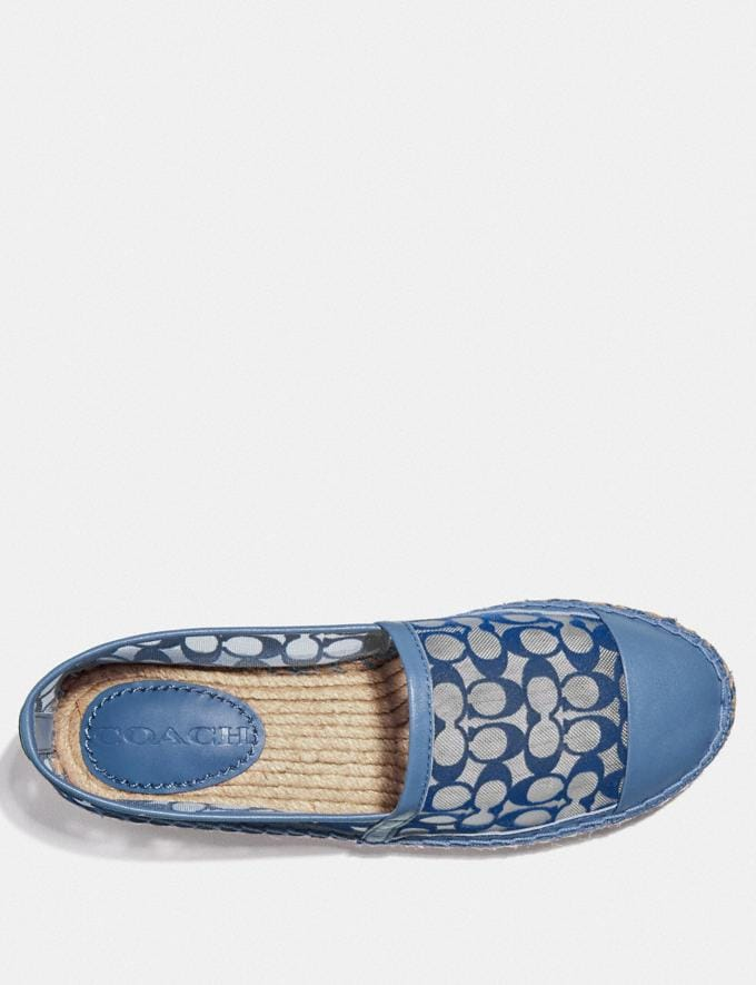 Coach Cleo Espadrille Stone Blue Women Shoes Flats Alternate View 2