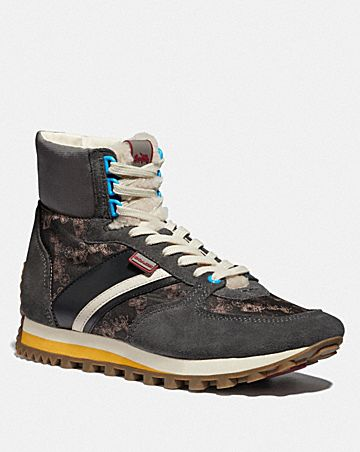 c280 high top sneaker with horse and carriage print