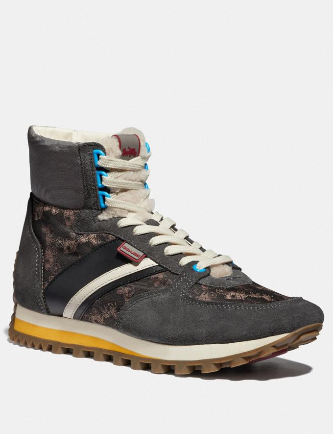 Coach C280 High Top Sneaker With Horse and Carriage Print Multi Antrha New Men's New Arrivals