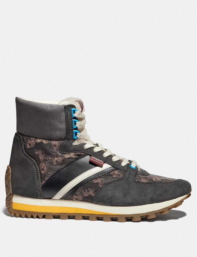Coach C280 High Top Sneaker Mit Pferdekutschenprint Multi Antrha SOMMER-SALE Sale: Herren Schuhe Alternative Ansicht 1