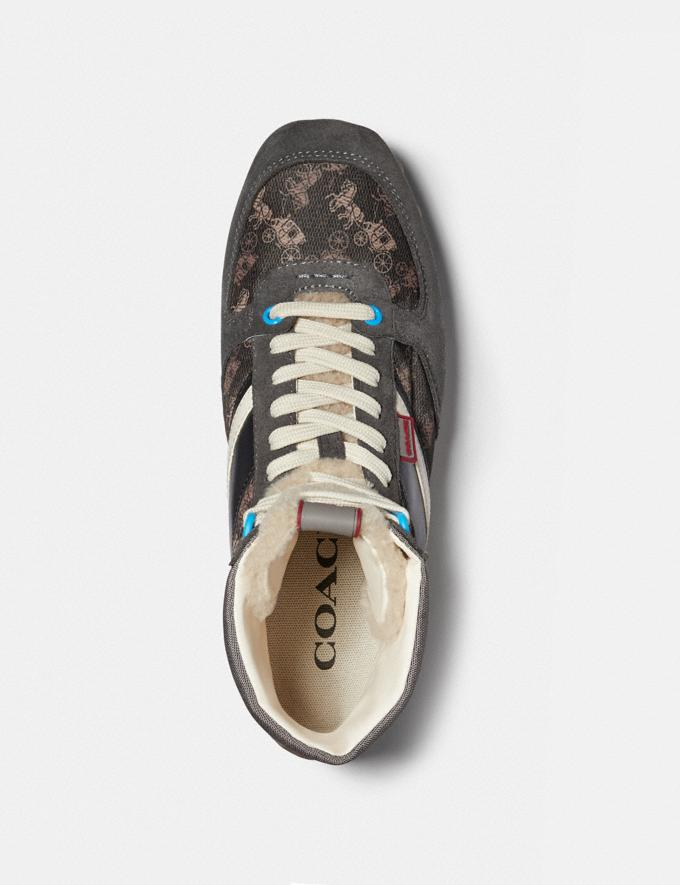 Coach C280 High Top Sneaker Mit Pferdekutschenprint Multi Antrha SOMMER-SALE Sale: Herren Schuhe Alternative Ansicht 2