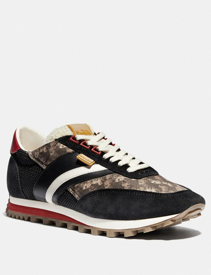 Coach C180 Low Top Sneaker With Horse and Carriage Print Multi Black