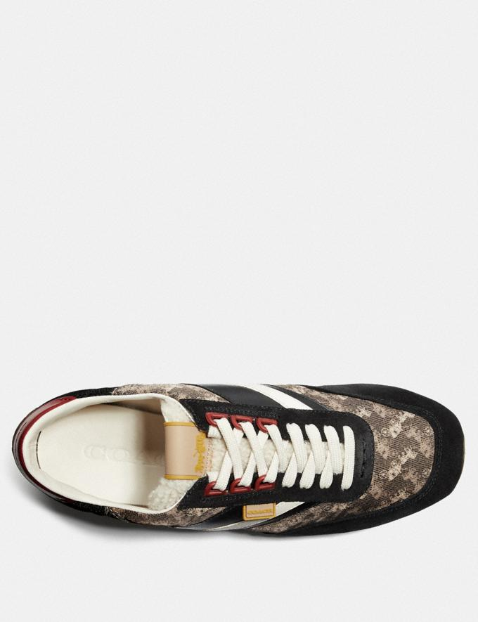 Coach C180 Low Top Sneaker With Horse and Carriage Print Multi Black  Alternate View 2