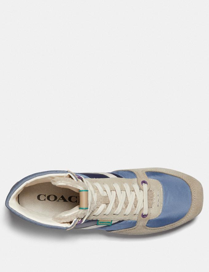 Coach C280 High Top Sneaker Multi Dusty Blue Men Shoes Trainers Alternate View 2