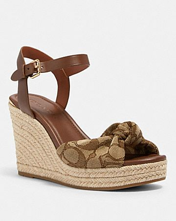katey wedge in signature jacquard