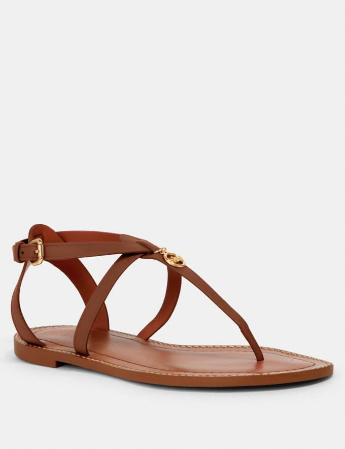 Coach Lydia Sandal Saddle