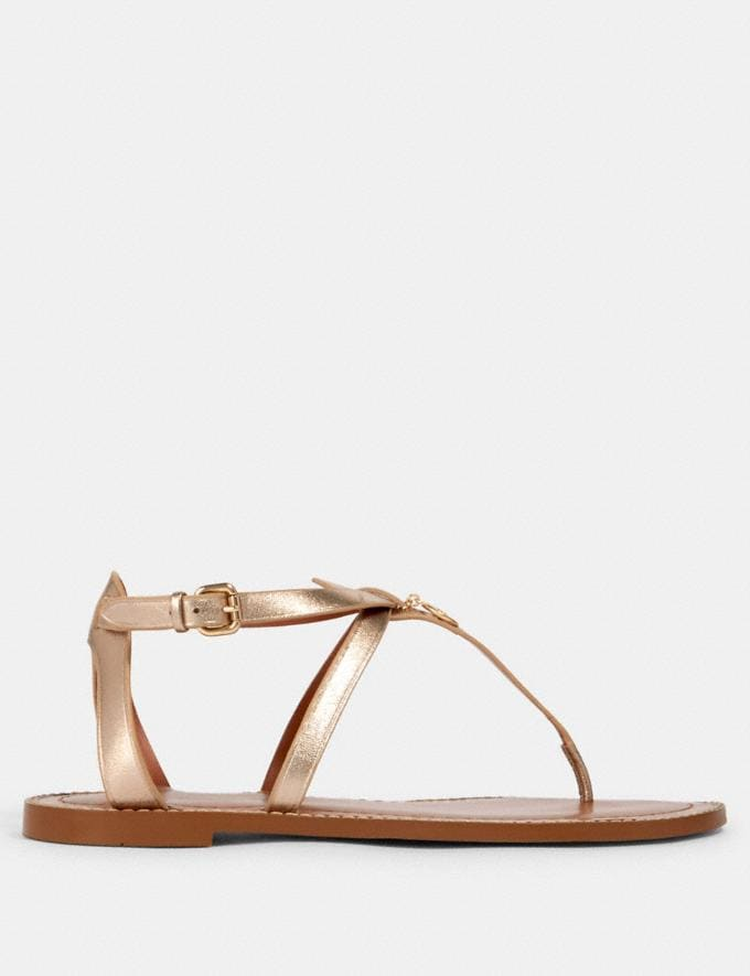 Coach Lydia Sandal Champagne  Alternate View 1