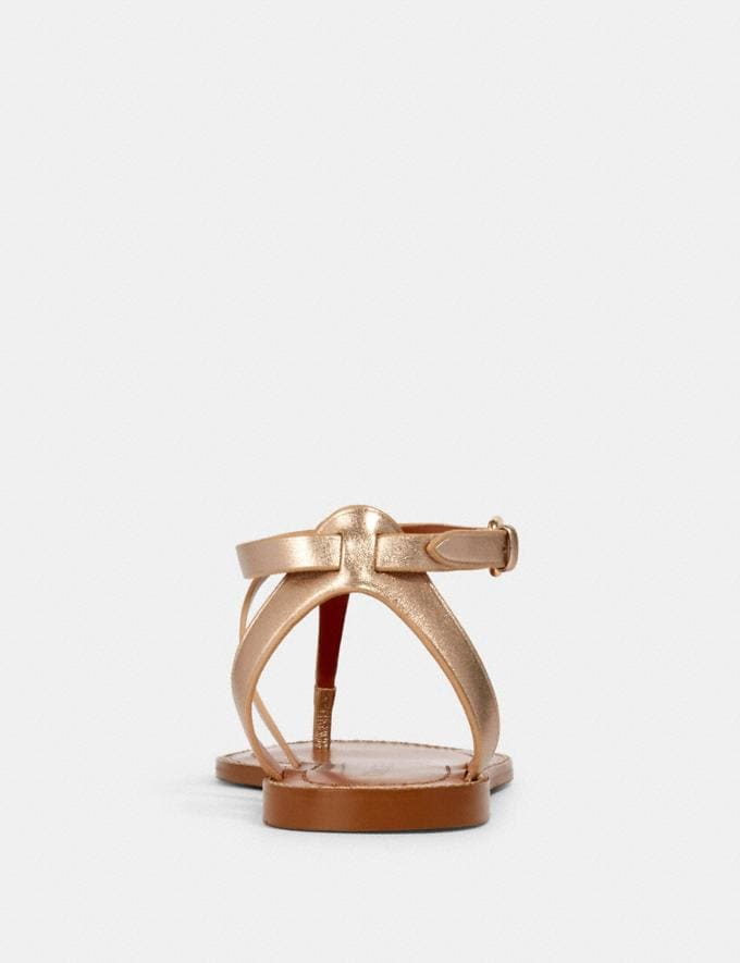 Coach Lydia Sandal Champagne  Alternate View 3