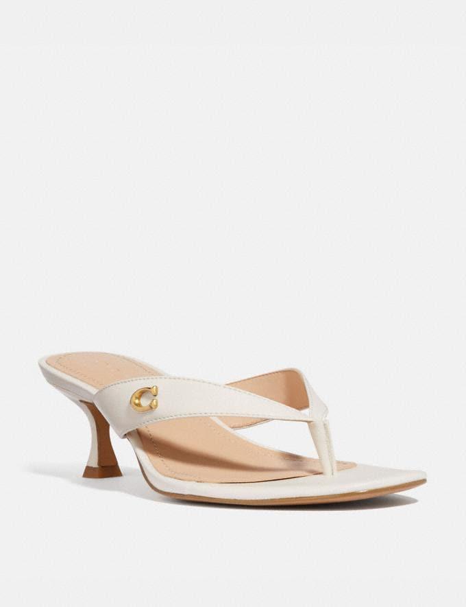 Coach Audree Sandal Chalk Women Shoes Sandals