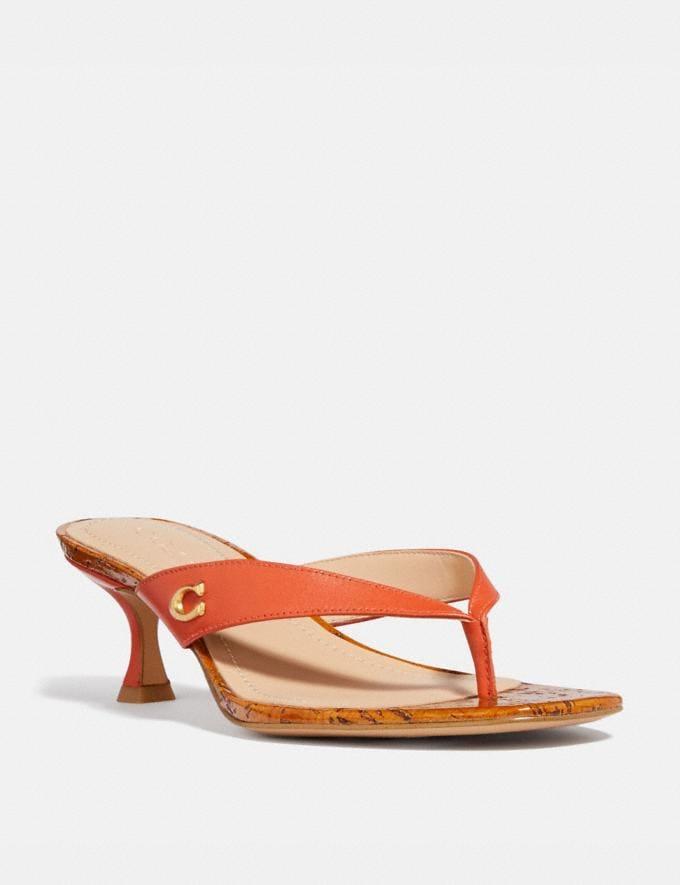 Coach Audree Sandal Geranium Women Shoes Sandals