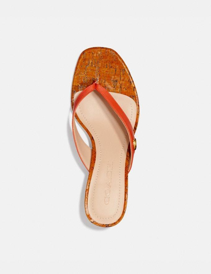 Coach Audree Sandal Geranium Women Shoes Sandals Alternate View 2