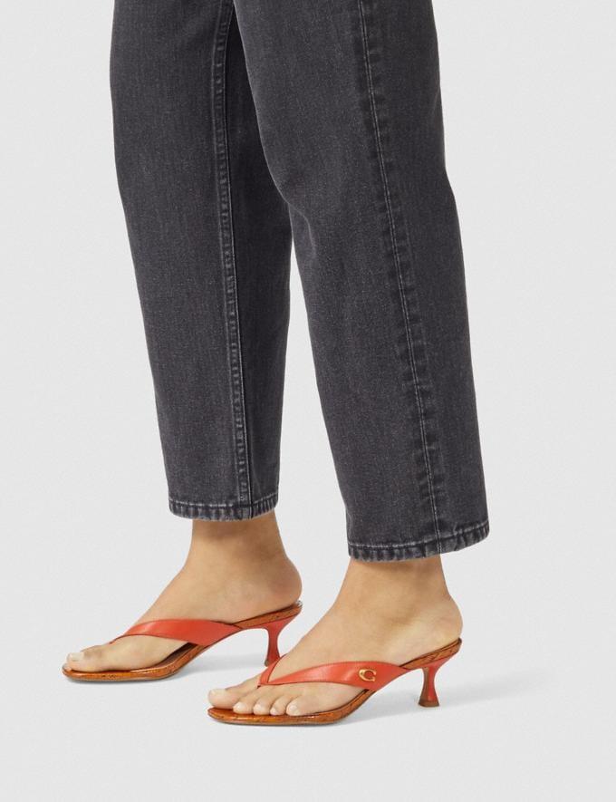 Coach Audree Sandal Geranium Women Shoes Sandals Alternate View 4