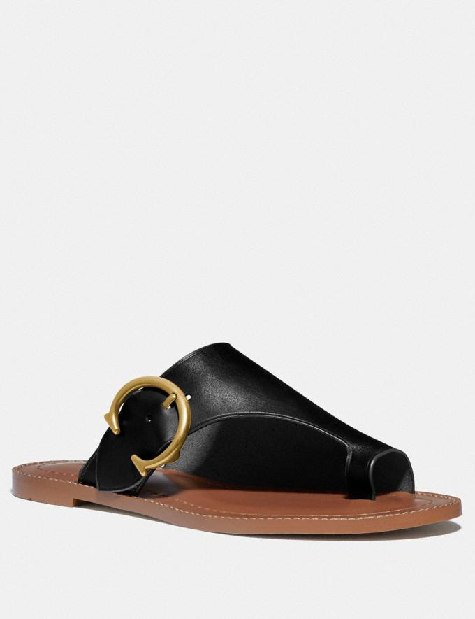 Coach Luca Sandal Black Women Shoes