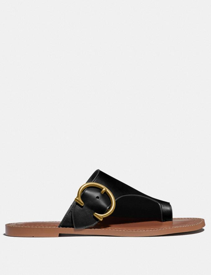 Coach Luca Sandal Black Women Shoes Alternate View 1