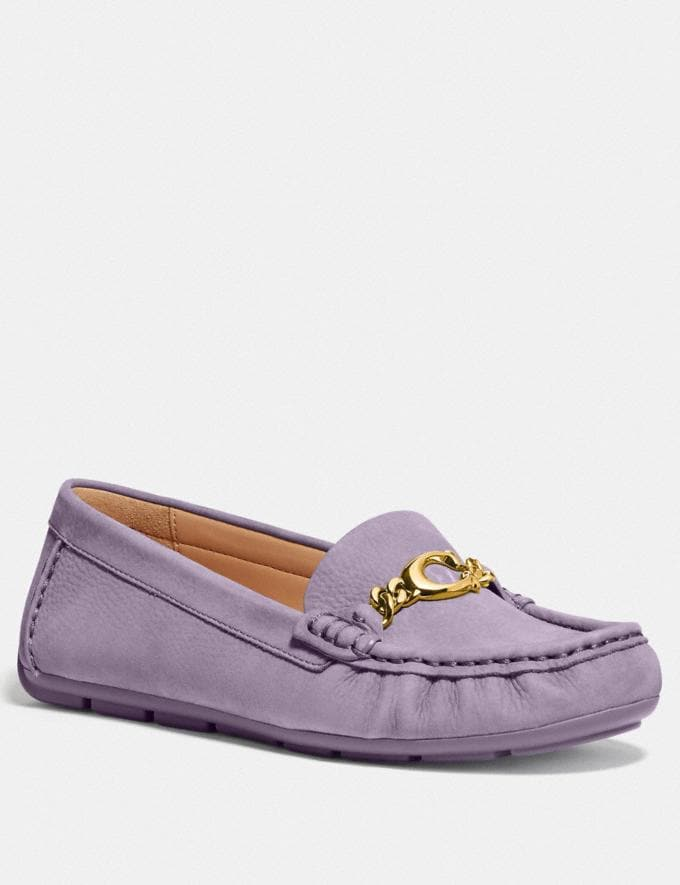 Coach Maegan Driver Soft Lilac Women Shoes Flats