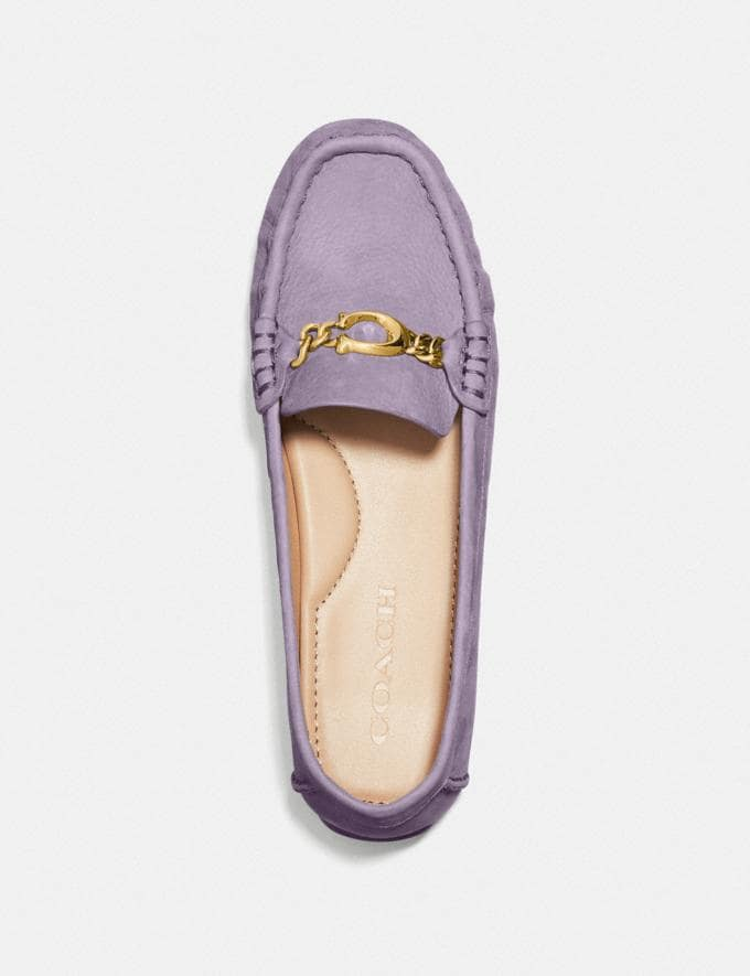Coach Maegan Driver Soft Lilac Women Shoes Flats Alternate View 2