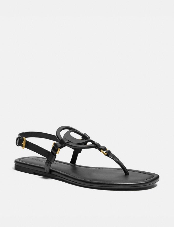 Coach Jeri Sandal Chalk Women Shoes Flats