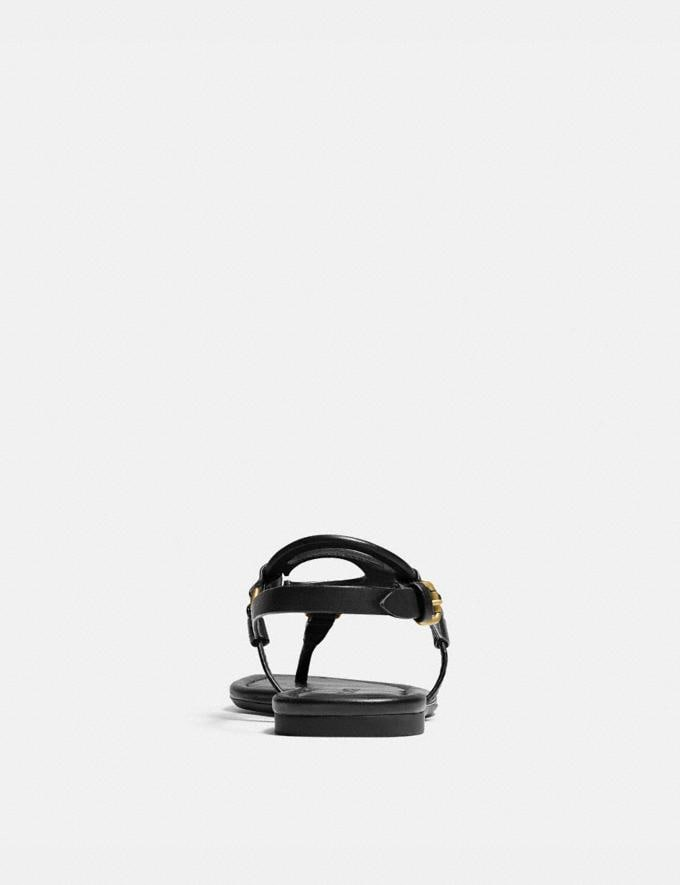 Coach Jeri Sandal Black New Women's New Arrivals Alternate View 3