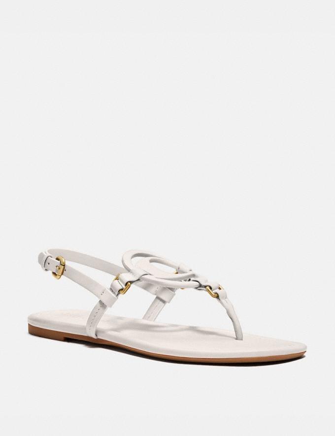 Coach Jeri Sandal Chalk Women Shoes Flats