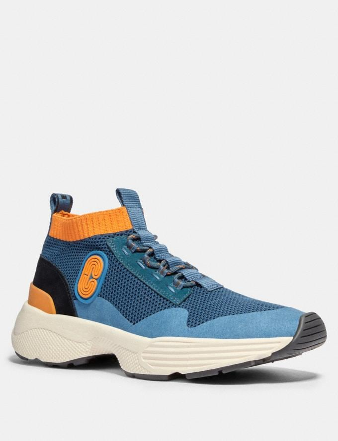 Coach C252 Knit Runner With Coach Patch Aegean Clementine