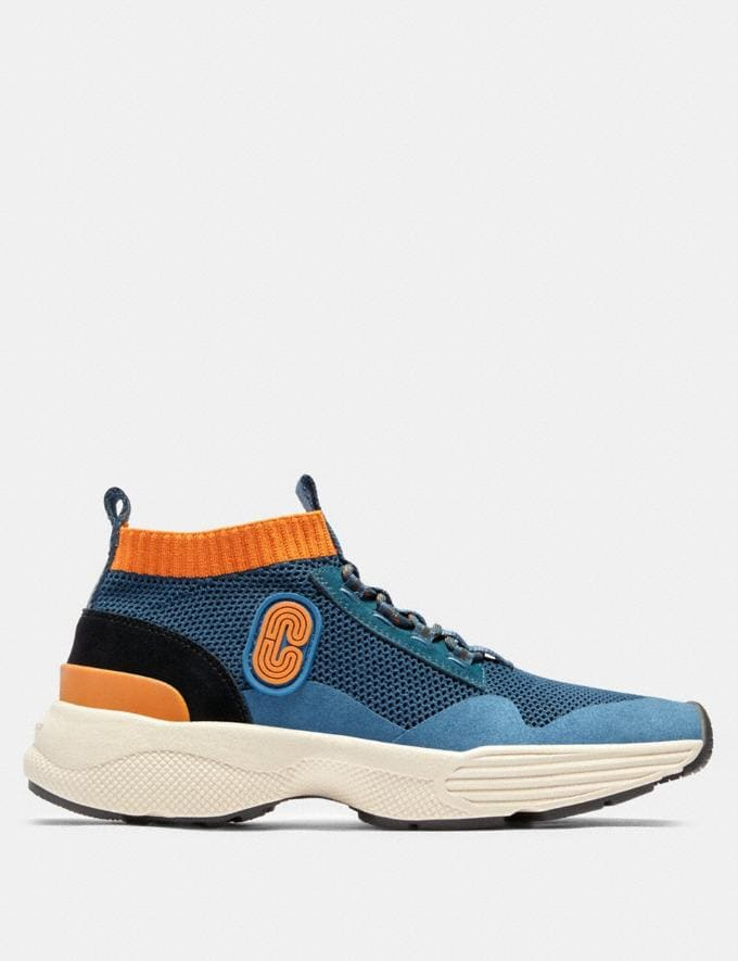 Coach C252 Knit Runner With Coach Patch Aegean Clementine  Alternate View 1