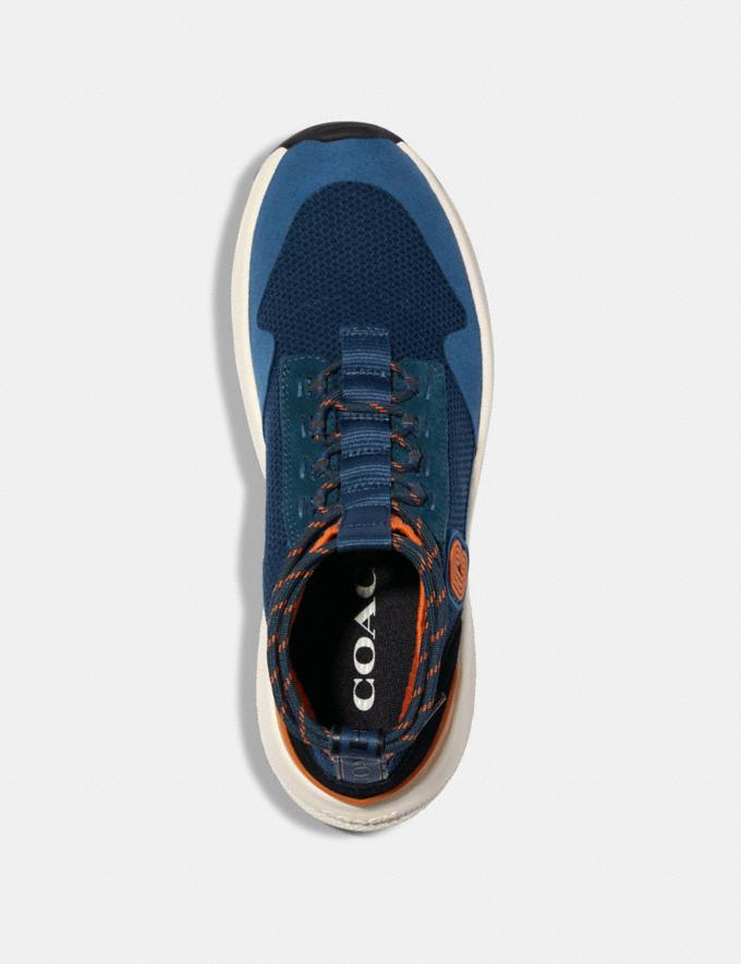 Coach C252 Knit Runner With Coach Patch Aegean Clementine  Alternate View 2