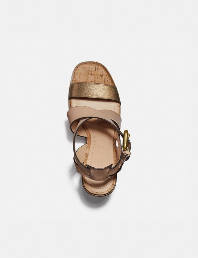 Coach Mandy Sandal Dusty Gold/Beechwood  Alternate View 2