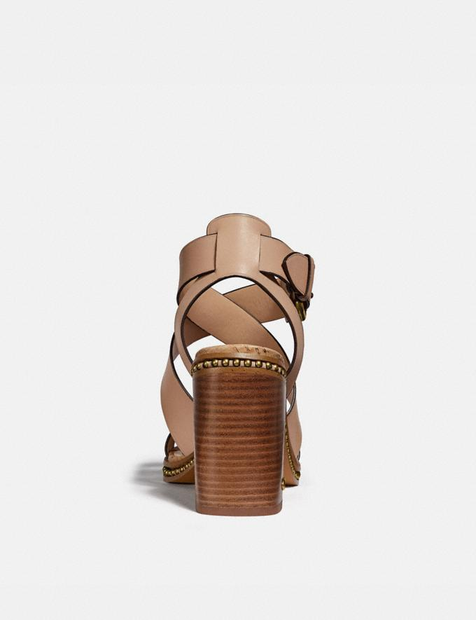 Coach Mandy Sandal Dusty Gold/Beechwood  Alternate View 3