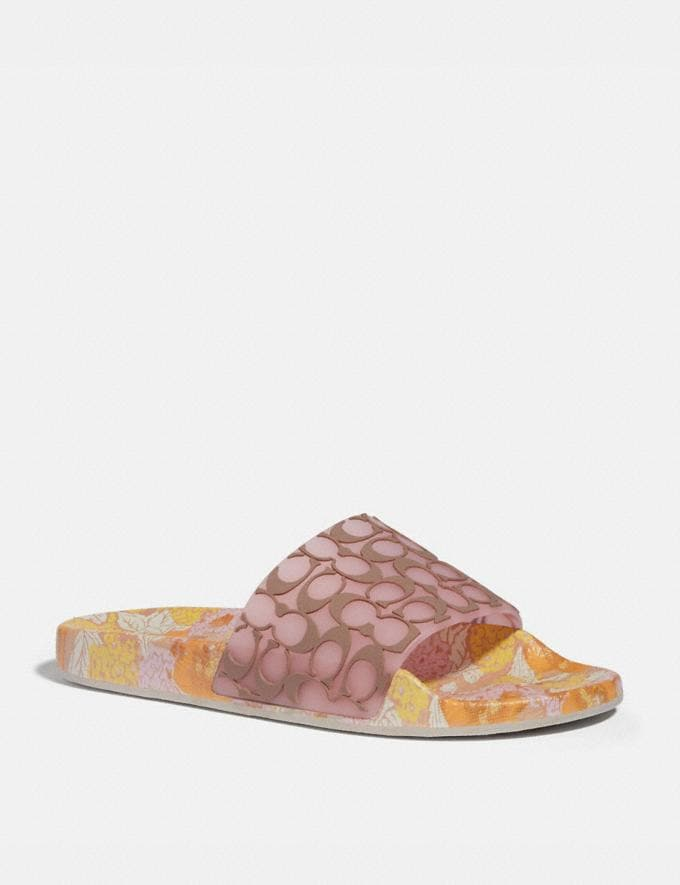 Coach Udele Sport Slide Aurora/Mushroom Women Shoes Flats