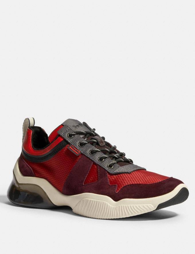 Coach Citysole Runner in Colorblock Sport Red Oxblood