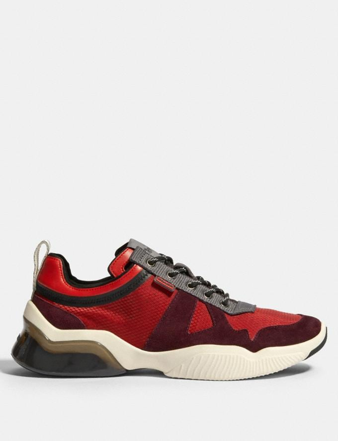 Coach Citysole Runner in Colorblock Sport Red Oxblood  Alternate View 1