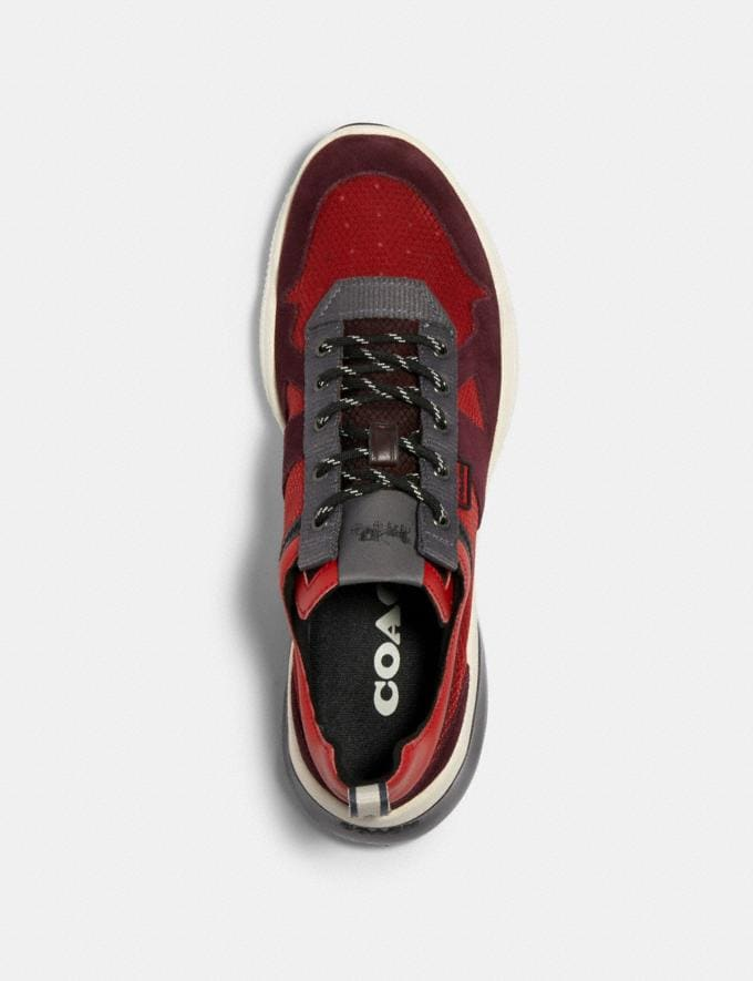 Coach Citysole Runner in Colorblock Sport Red Oxblood  Alternate View 2