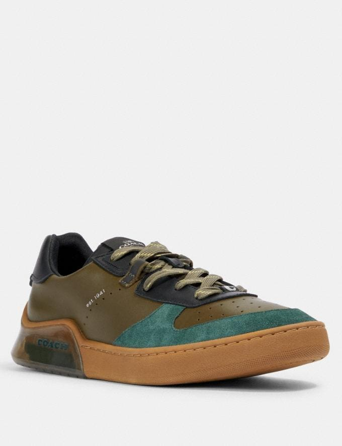 Coach Citysole Court in Colorblock Utility Green Olive