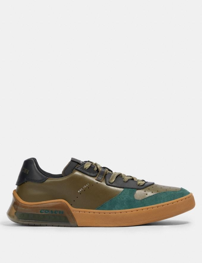 Coach Citysole Court in Colorblock Utility Green Olive  Alternate View 1