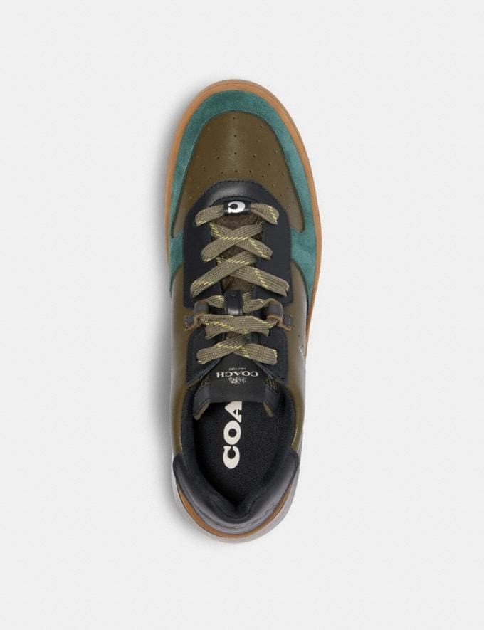 Coach Citysole Court in Colorblock Utility Green Olive  Alternate View 2