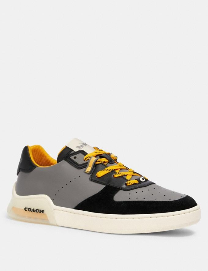 Coach Citysole Court Sneaker in Colorblock Heather Grey Bright Yellow